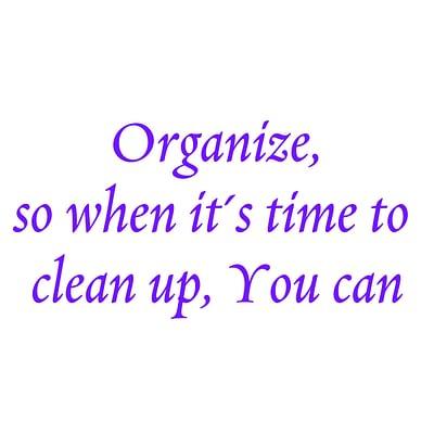 Organizing Goals!