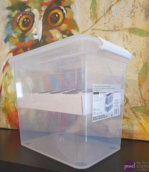 Side view of the Latchmate Vinyl Storage Bin